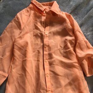 Kids peach button down blouse